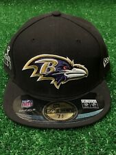 """Baltimore Ravens """"Super Bowl 47"""" New Era Fitted Hat Size 7 3/4"""