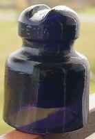 Rare Purple Dark Violet Glass Insulator CD 540A made in USSR Soviet Russian