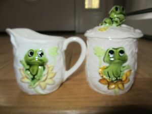 CL/SEARS ROEBUCK 1978 NEIL THE FROG CREAMER + SUGAR BOWL WITH LID!!