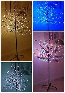 5/6Ft  Light Up Cherry Blossom Christmas Tree LED Indoor Outdoor Home Decoration