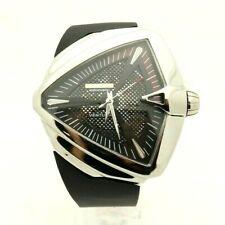 Hamilton H24655331 Ventura XXL Automatic Black Dial Rubber Band Men's Watch 7