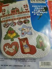 Design Works SIGNS OF CHRISTMAS Counted Cross Stitch Stocking Kit 17""
