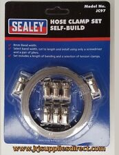 Sealey JC97 Hose Clamp Set 8mm Band 8 Tension Clamps Air Pipe Clip Fuel Line
