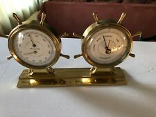 Airguide Combo Humidity, Temperature & Barometer Brass Ships Wheels Instruments