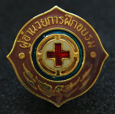 THAILAND RED CROSS SOCIETY - OFFICIAL SHIELD METAL PIN PATCH