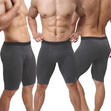 Herren Radler-Hose Boxershorts Trunk 3/4 Modal-Stoff Leggings Dunkel Grau S/M