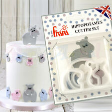 FMM Sugarcraft - Hippopotamus Cutter Set - Cake decoration sugarpaste fondant