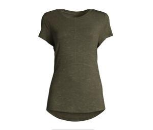 NEW- Avia Women's Athleisure Commuter Short Sleeve T-Shirt XS 0-2  (Smoky Olive)
