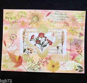 Leanin Tree Valentine Card Valentine's Day Flowers Music Romance Love V41