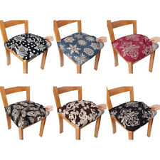 2/4/6/8x Elastic Printed Chair Seat Covers Anti-Dust Seat Cushion Slipcover Home