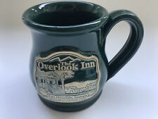 The Overlook Inn Fort Mountain Georgia 12oz. Coffee Mug Cup Green Deneen Pottery