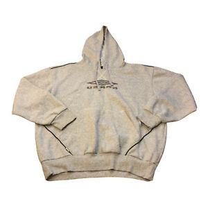 Vintage Umbro Mens Embroidered Logo Long Sleeve Pullover Hoodie Size Medium