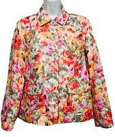 COLDWATER  CREEK Women's Blazer 5 Button Front Size 8 Floral Multicolored EUC