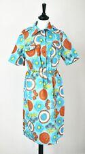 Vintage Cotton Shirt Dress - Livio de Simone - 1990s - Blue / Orange  - UK 12