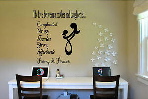 The Love Between a Mom & Daughter/ Son Wall Sticker Wall Art Quotes Lettering