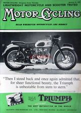 Jan 31 1957 Triumph Motor Cycle ADVERT - Magazine Cover Print