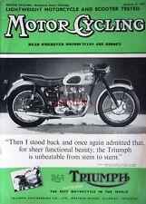 Jan 31 1957 Triumph Motor Cycle ADVERT - Magazine Cover Print