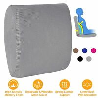 Memory Foam Lumbar Back Support Cushion Pillow for Car Office Chair Backrest