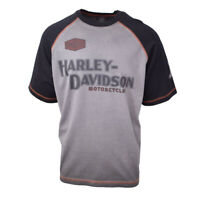 Harley-Davidson Men's Grey Iron Block Two Tone S/S Tee (Retail $55) (S03)