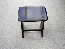 ERCOL Small Dark Wood Mahogany Coffee Table