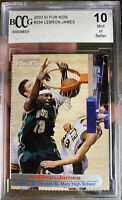 Iconic  LeBRON JAMES Rookie 2003 SI For Kids Card GEM Mint 10 BCCG Lakers MVP