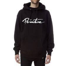 e1d6e696d945 Primitive NUEVO SCRIPT HOODY Black White Print Pullover Men's Sweatshirt