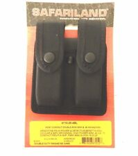 Safariland 4110-20-4BL Double Magazine Holder Pouch Holster Black 9mm .40 Mag