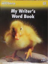 Strategies for Writers My Writer's Word Book Grade K Kindergarten Zaner-Bloser
