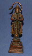 Vintage Hindu hand made bronze figurine ape monkey god Hanuman
