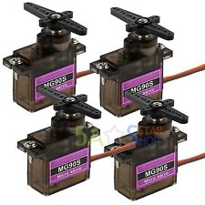 4PCS MG90S Micro Servo Metal Gear Moto High Speed For RC Helicopter Car Futaba