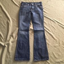 Seven 7 for all Mankind Blue Jeans Bayla Flare Denim Size 27 Juniors Hippie