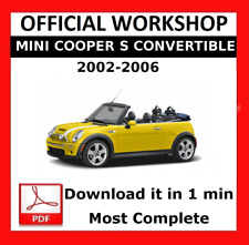>> OFFICIAL WORKSHOP Manual Service Repair Mini Cooper S Convertible 2002 - 2006