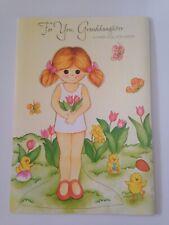 Vintage Gibson Easter Paper Doll Card For Granddaughter