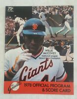 1978 SAN FRANCISCO GIANTS SCOREBOOK PROGRAM UNSCORED vs PITTSBURGH PIRATES