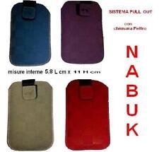 Cover Custodia Universale NABUK  MISURA 5,8 L x11H CELLULARE con LINGUETTA L