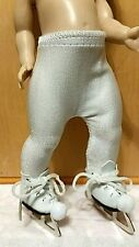Ginny tights and ice skates. Make your own ice skating outfit for her.No doll.