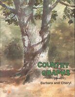 Country Graphs Cross Stitch Booklet 1 1978 Milkcan Washtub Wagon Wheel Barrel
