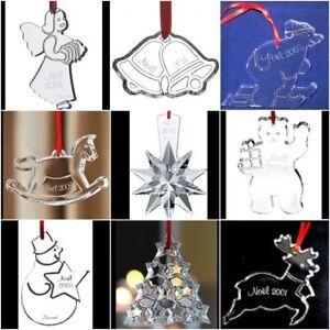 Baccarat French Clear Crystal Christmas NOEL ANNUAL 2000-2014 ORNAMENT w/b