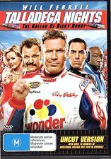 TALLADEGA NIGHTS - DVD R4 (2007) UNCUT VERSION - Will Ferrell - VG - FREE POST