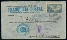 Mayfairstamps Habana General Consulate Chile Registered Cover wwg_03445