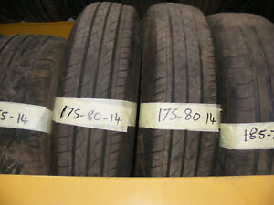 175 80 14 PART WORN TYRES 6mm FITTED AND BALANCED - SPECIAL 2 FOR £25