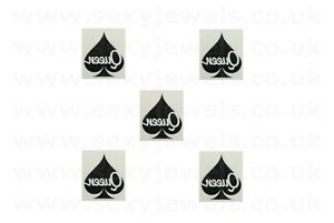 Mini Queen Of Spades Style 5 QOS Temporary Tattoo BBC Hotwife FREE P&P- Pack 5
