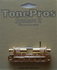 T3BT-G TonePros (Metric Thread) Tune-O-Matic Bridge, Gold Finish