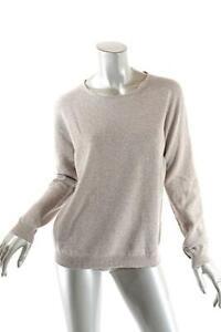 ESCADA Oatmeal Virgin Wool Cashmere Blend Crew Neck Sweater NWT Sz M