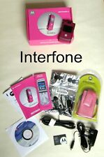 Unlocked Motorola V3 RAZR Mobile Phone-Exc.Cond+Original Boxed Accessory Bundle