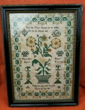 More details for large antique needlework sampler 1835 mary ann fulcher 13yrs in frame 14