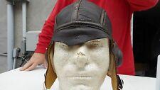 WW2 US Navy NAF1092 Summer Leather Flying Helmet Size 7 1/8