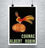 Cognac Albert Robin Bird Liquor Poster Fine Art Print on Canvas or Paper