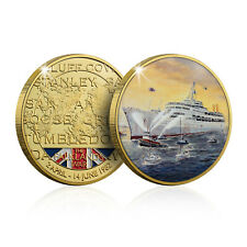 More details for falklands war collection collectable commemorative gold coin ss canberra returns