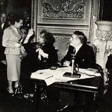Photo Argentique Colette et Edith Piaf 1954